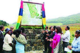 Inauguration du jardin endémique de la Vallée d'Osterlog