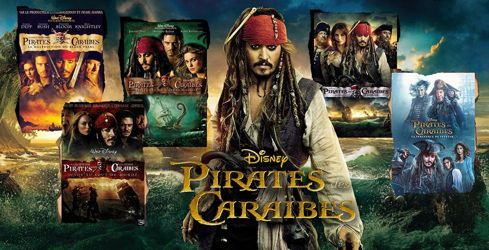 Pirates des Caraïbes - coffret collector disponible en VoD sur my.t
