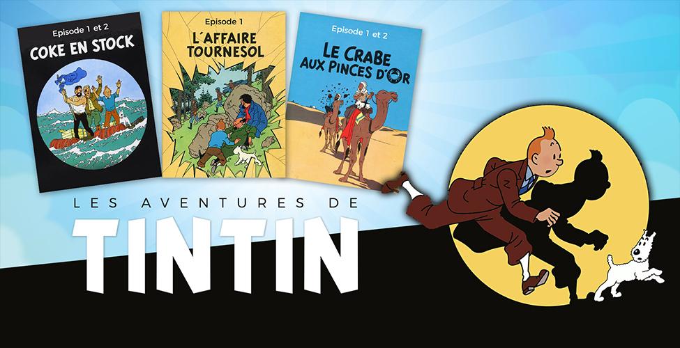 Les Aventures de Tintin – coffret collector disponible en VoD sur my.t