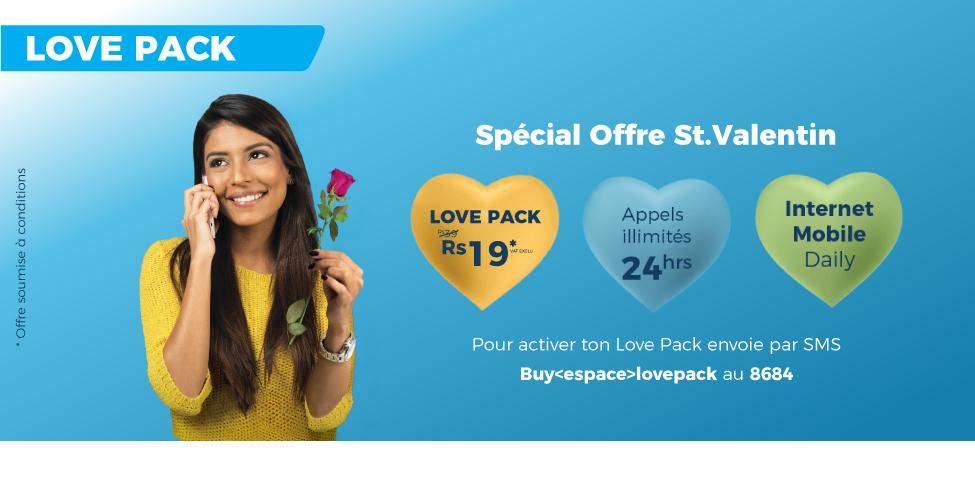 Le Love Pack à seulement Rs 19 pour la Saint Valentin