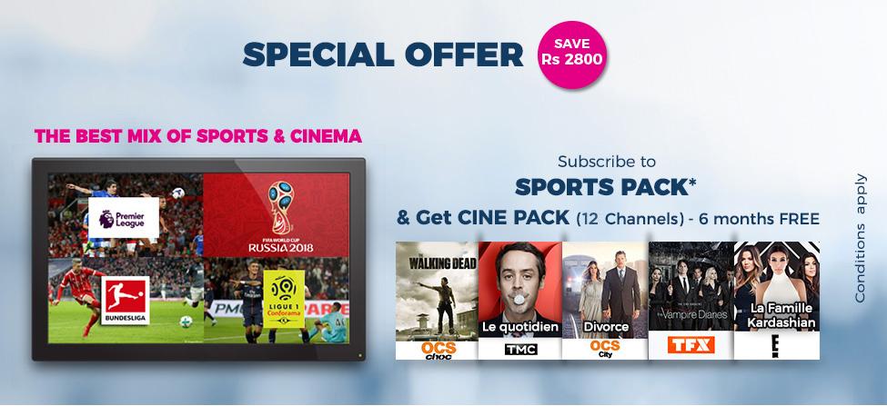 Abonnez-vous au Sports Pack de my.t et accédez au Cine Pack gratuitement pendant 6 mois