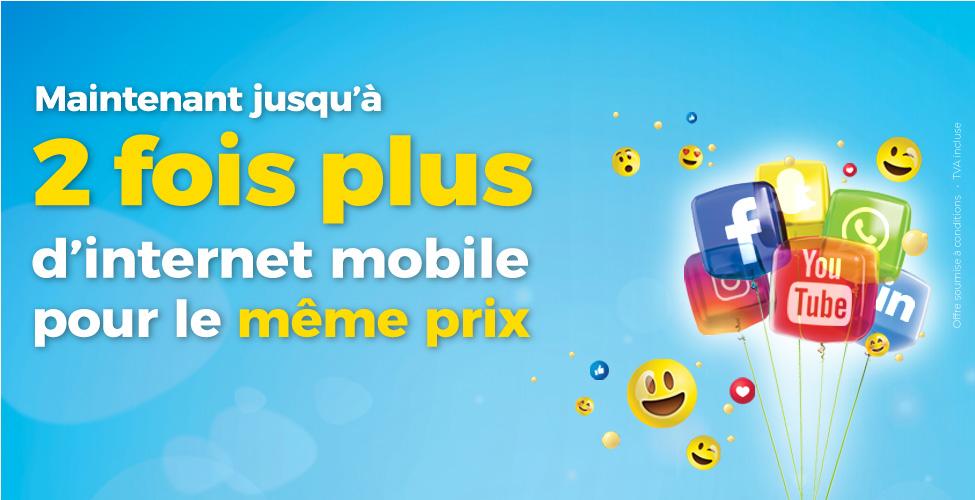 my.t mobile : bénéficiez jusqu'à deux fois plus d'internet mobile pour le même prix
