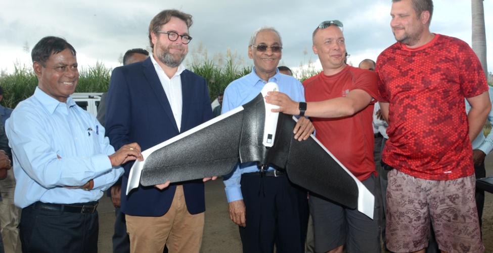 La technologie de drone au service de l'agriculture grâce au partenariat Maurice-Estonie