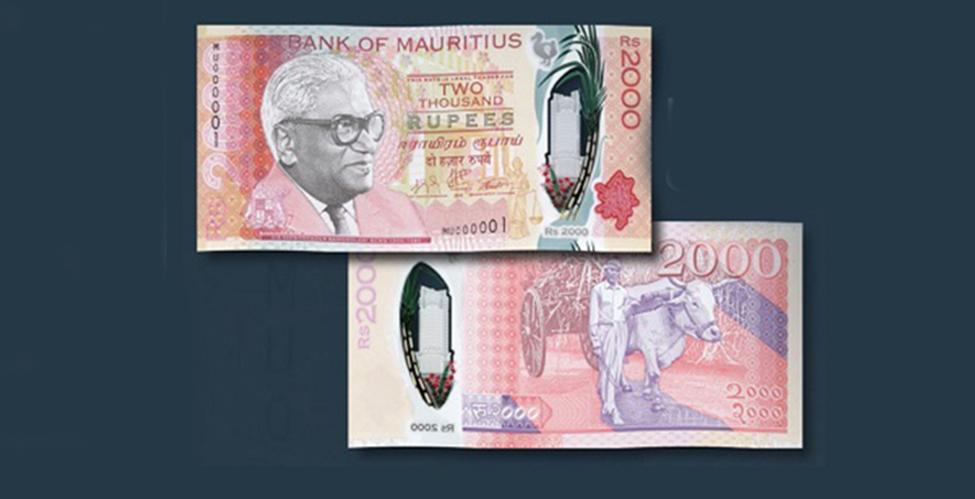 La Banque de Maurice émet de nouveaux billets de Rs 2,000 en polymère