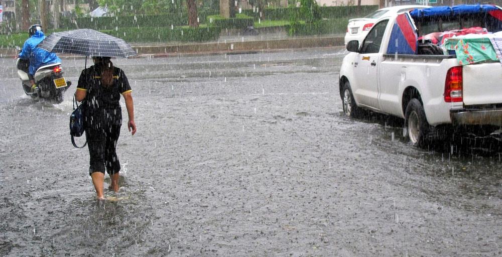 Un avis de  pluies torrentielles en vigueur à Maurice