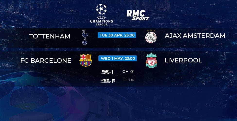 Ligue des Champions : Tottenham v/s Ajax et Barcelone v/s Liverpool en live et en 4K sur my.t