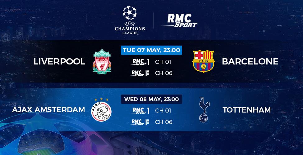 Demi-finales retour Ligue des Champions : Liverpool v/s Barcelone et Ajax v/s Tottenham en live et en 4K sur my.t