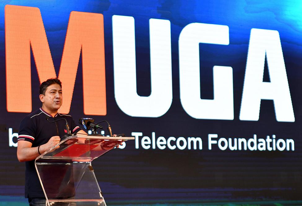 MUGA Tyack inauguré par le Premier ministre Pravind Jugnauth, en présence du CEO de Mauritius Telecom, Sherry Singh