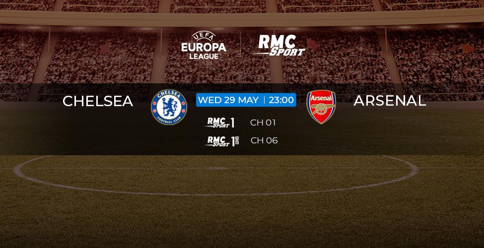 Europa League : Chelsea v/s Arsenal en live et en 4k sur my.t ce mercredi 29 mai à 23 heures