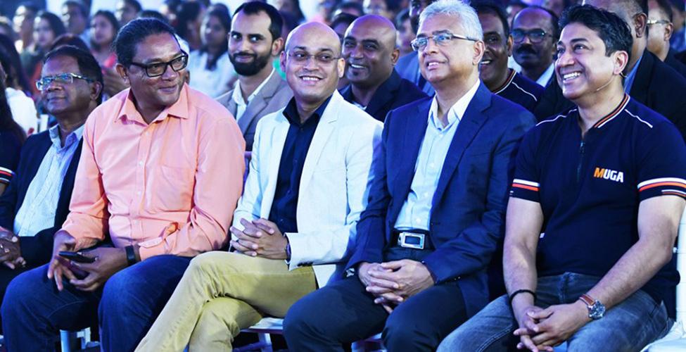 Le Premier ministre inaugure MUGA Triolet en présence du CEO de Mauritius Telecom, Sherry Singh
