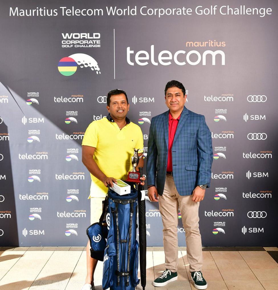 Roshan Koonja grand winner of the Mauritius Telecom World Corporate Golf Challenge 2019