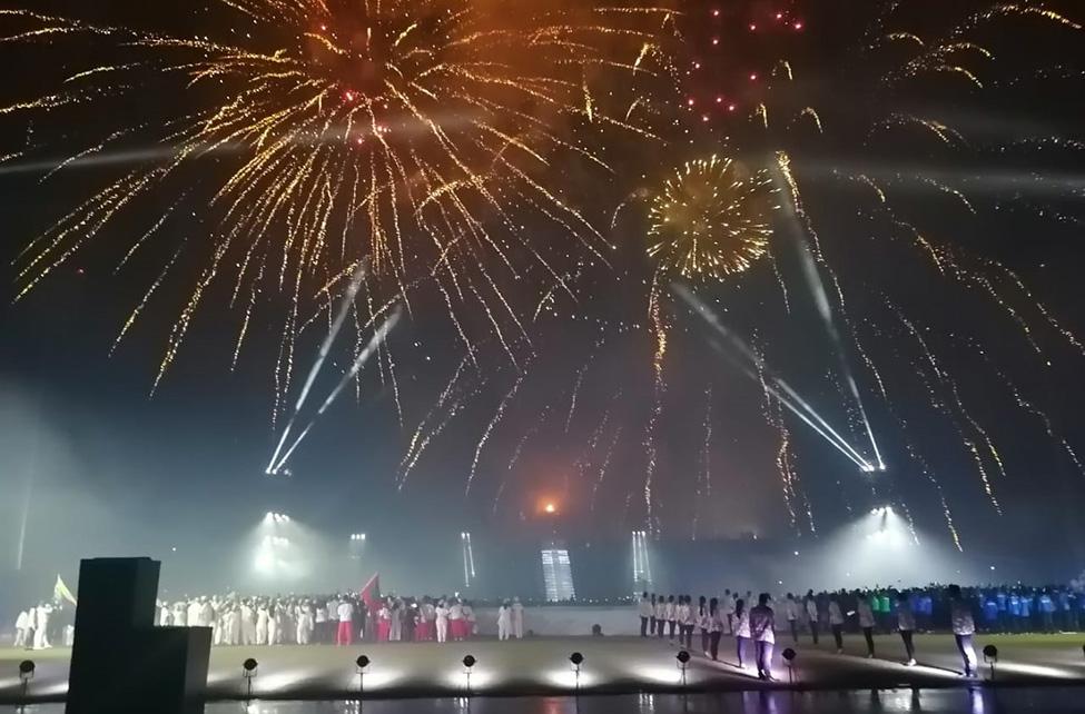 Cérémonie d'ouverture des 10èmes Jeux des îles de l'océan Indien : GRANDIOSE !