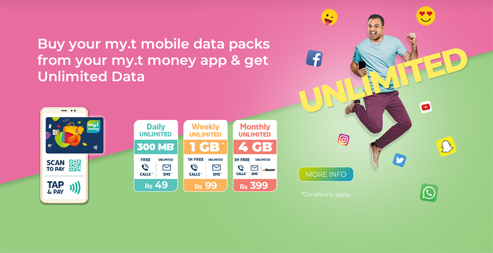 Des mobile data packages illimités avec my.t money
