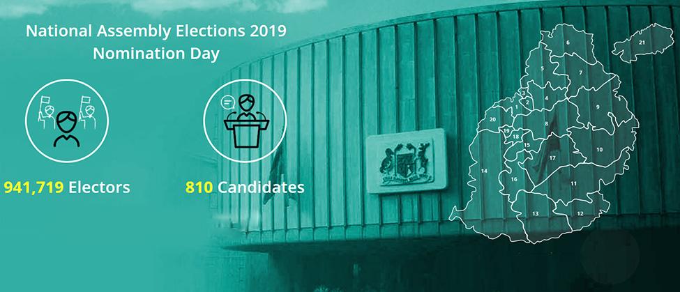 Elections générales : liste de tous les candidats par circonscription
