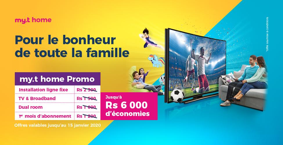 Promotion exceptionnelle my.t home : économisez jusqu'à Rs 6,000