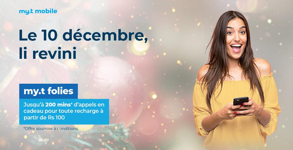 my.t folies : ce mardi 10 décembre, recevez jusqu'à 200 minutes d'appels en cadeau en rechargeant votre portable