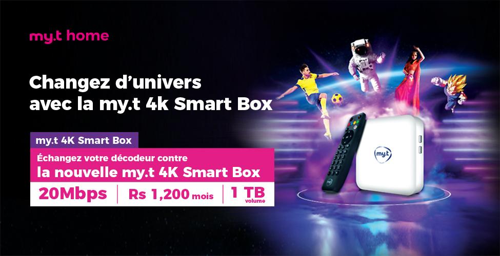 Echangez votre décodeur contre la nouvelle my.t 4K Smart Box