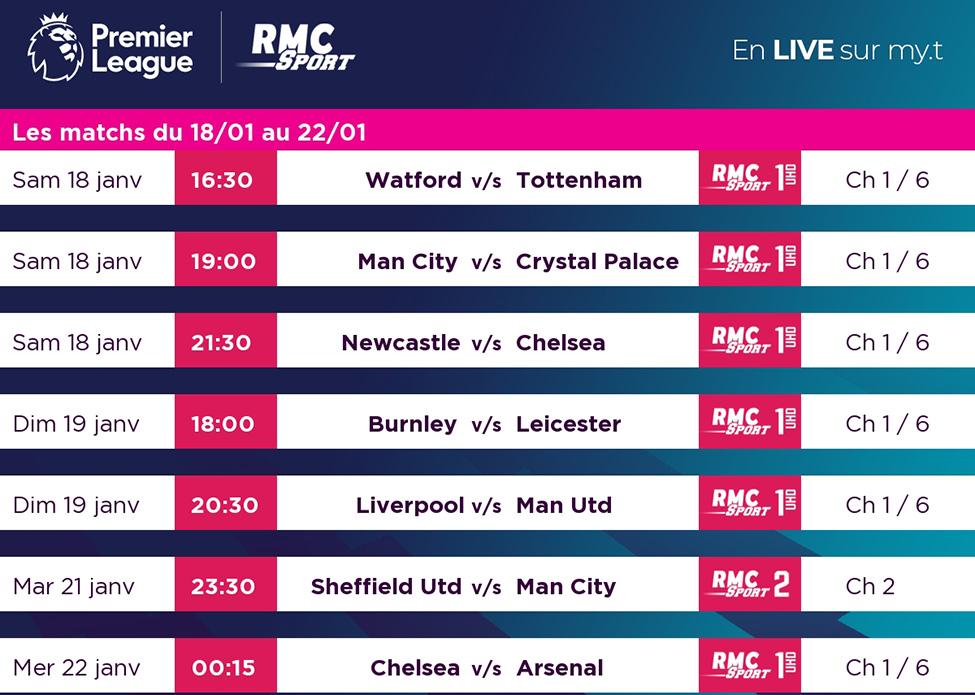 Le choc Liverpool v/s Man United en direct sur my.t dimanche 19 janvier à 20h30