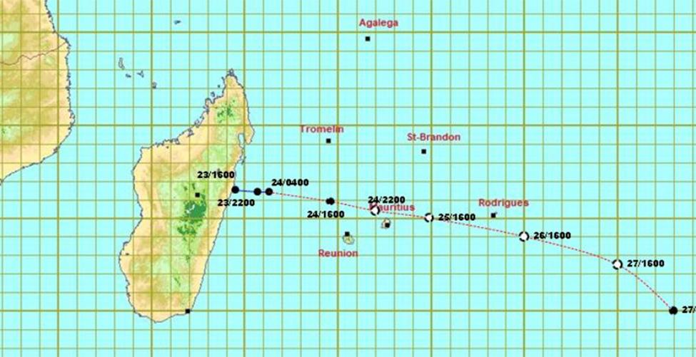 Un avertissement de cyclone de classe 2 en vigueur à Maurice