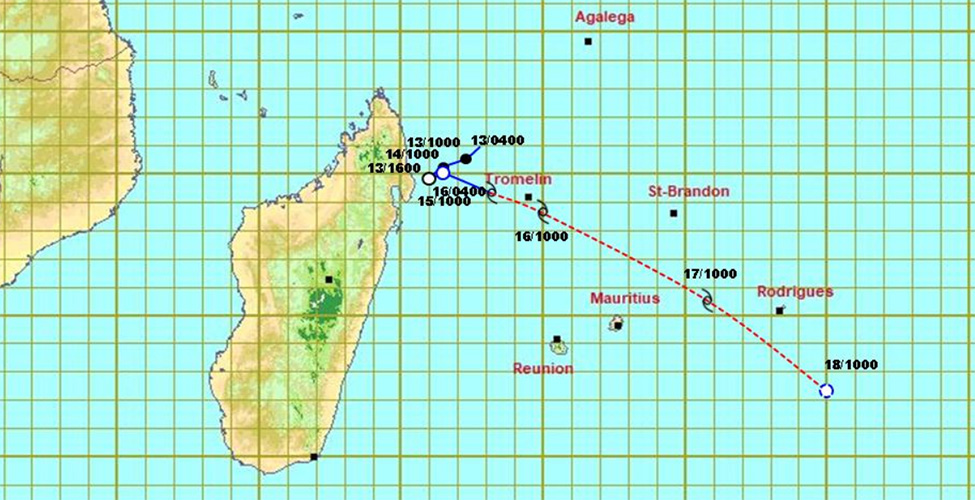 Cyclone Herold : un avertissement de cyclone de classe II en vigueur à Maurice