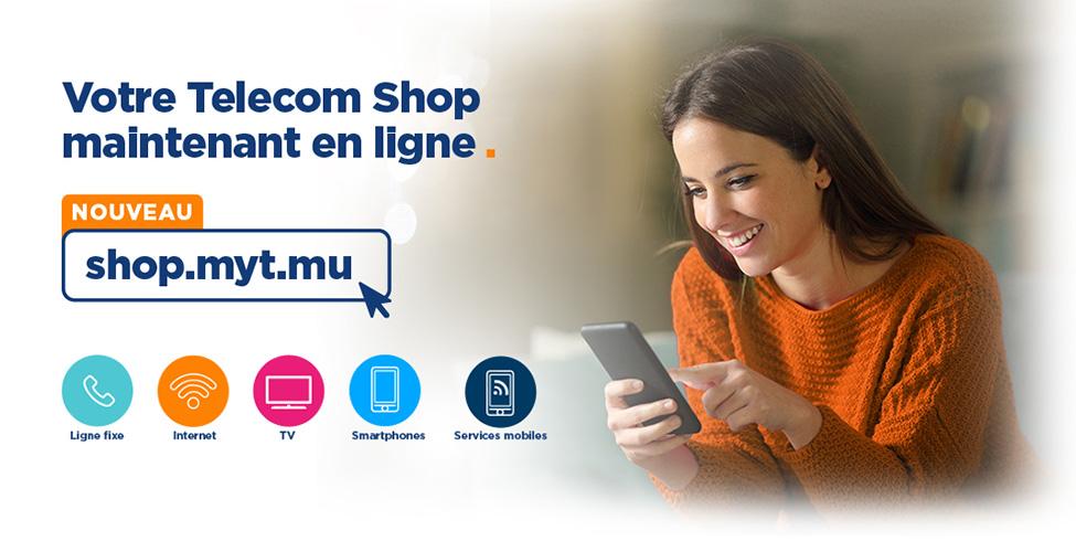 Votre Telecom Shop maintenant accessible de chez vous sur shop.myt.mu