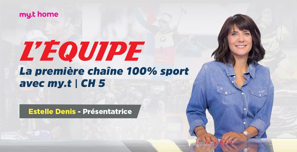 L'Equipe, la chaîne 100 sport, est maintenant sur my.t