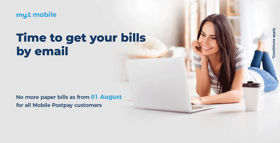 Clients my.t mobile postpay, recevez vos factures par email à partir du 1er août