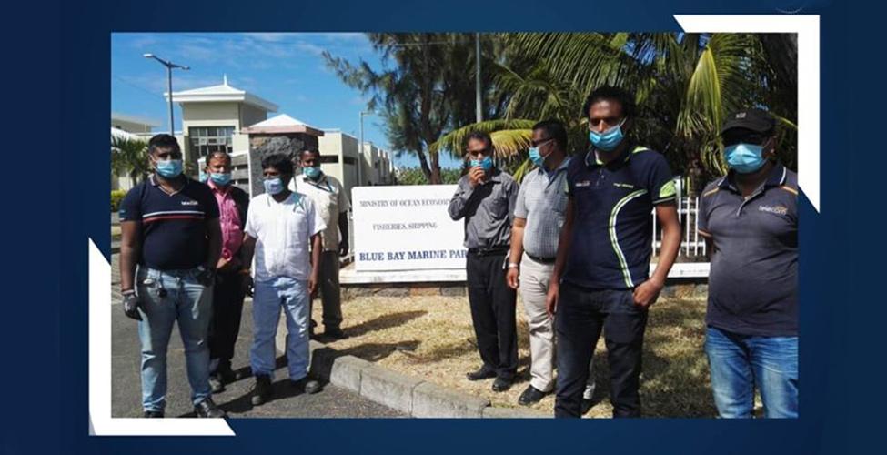 Mauritius Telecom met en place des moyens de communication additionnels dans le Sud-Est du pays sur le site du Blue Bay Fisheries Post