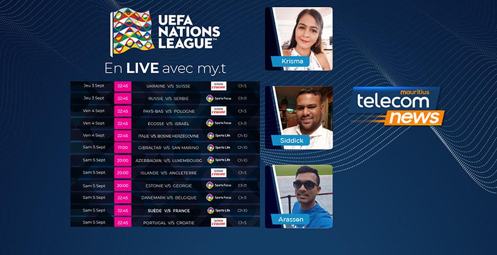 La Nations League en direct sur my.t : retour tant attendu des équipes nationales de football