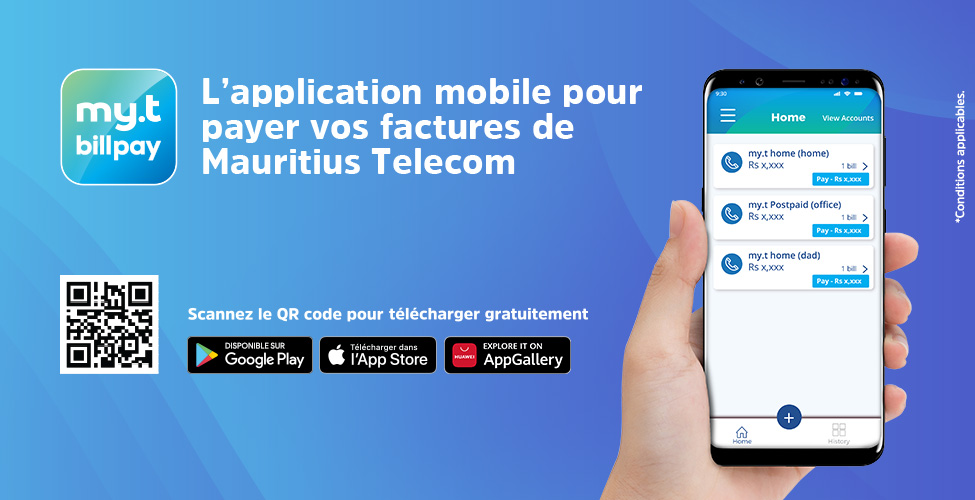 my.t billpay app : payez vos factures de MT directement de votre smartphone