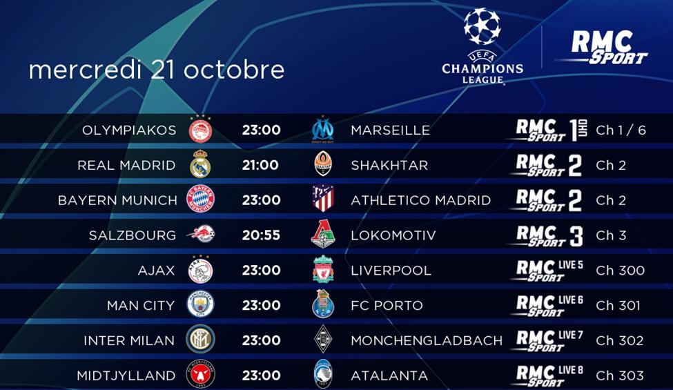 La Ligue des Champions en direct et en intégralité sur my.t
