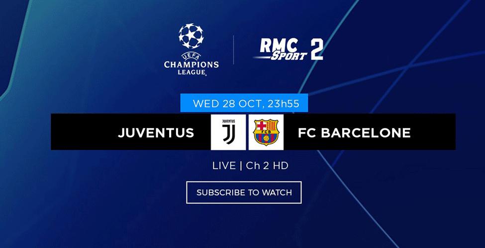 Vivez en LIVE la Champions League sur les chaînes RMC Sport