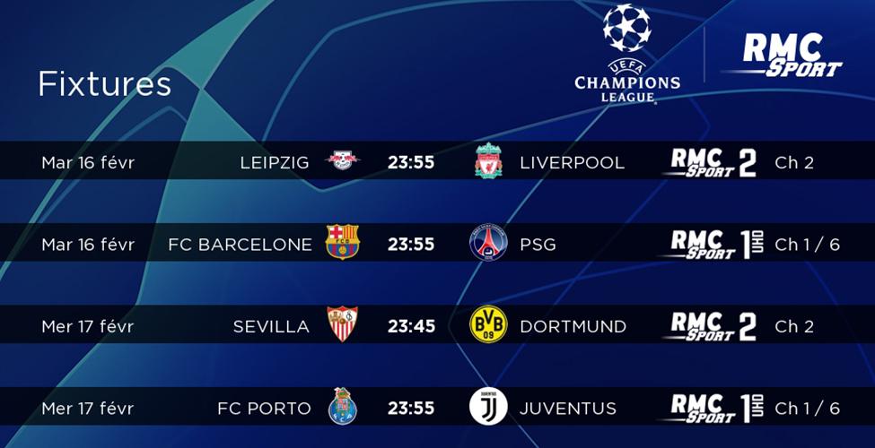 8e de finale Ligue des Champions : de superbes matchs à suivre en LIVE sur my.t mardi 16 et mercredi 17 février