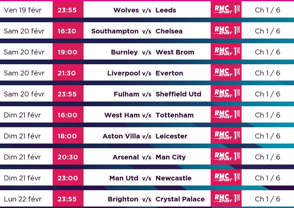 Premier League - 25e journée : de superbes affiches à suivre en LIVE sur my.t