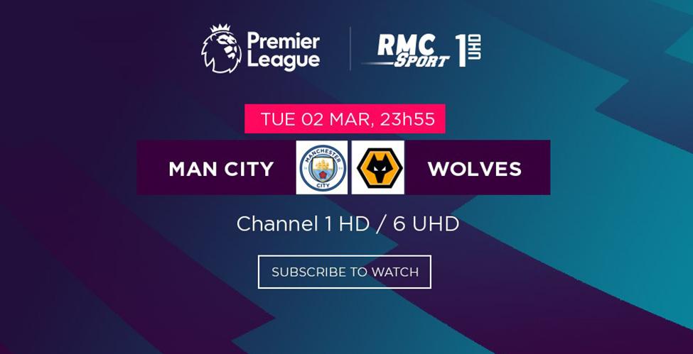 Les Citizens creuseront-ils davantage l'écart en tête du championnat ? Man City v/s Wolves à suivre en LIVE sur my.t ce soir à 23h55