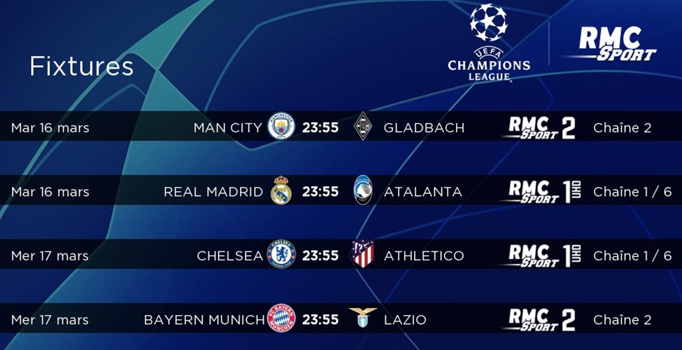 8e de finale retour de la Champions League : à suivre en LIVE sur my.t mardi 16 et mercredi 17