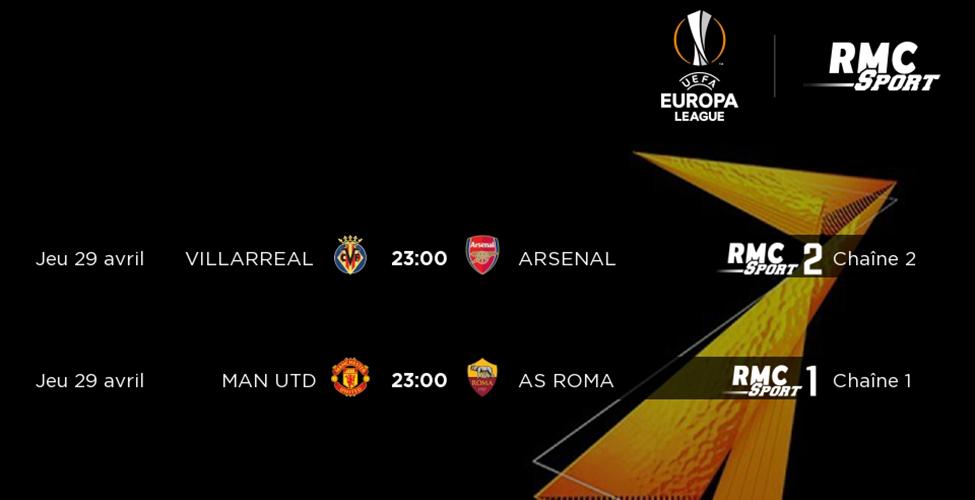 Villarreal v/s Arsenal et Man United v/s AS Roma ; suivez les demi-finales de l'Europa League en direct sur my.t