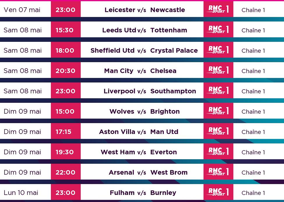 Man City pourrait être sacré champion dès ce week-end ; suivez les matchs de Premier League en direct sur my.t