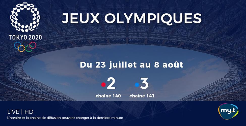 Vibrez au rythme des Jeux Olympiques de Tokyo en direct sur my.t