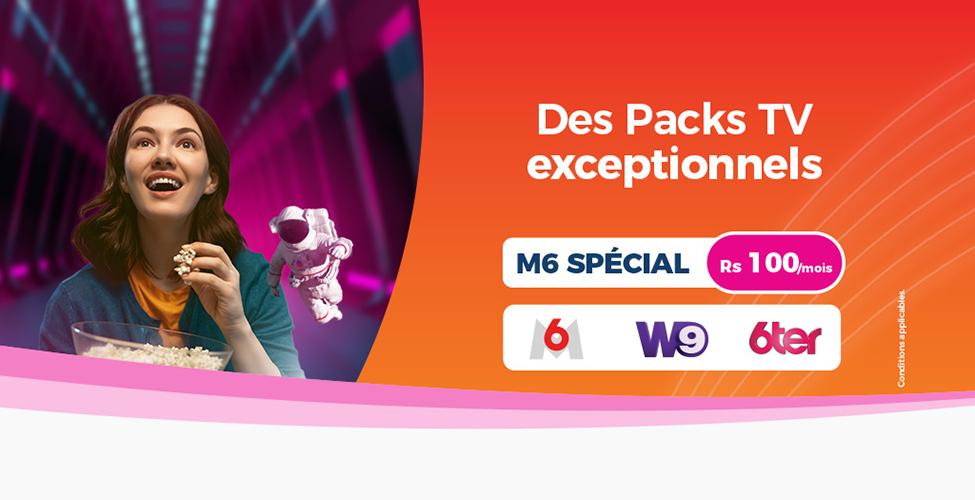 my.t, un grand choix de Packs TV pour tous les goûts à partir de Rs 100 seulement