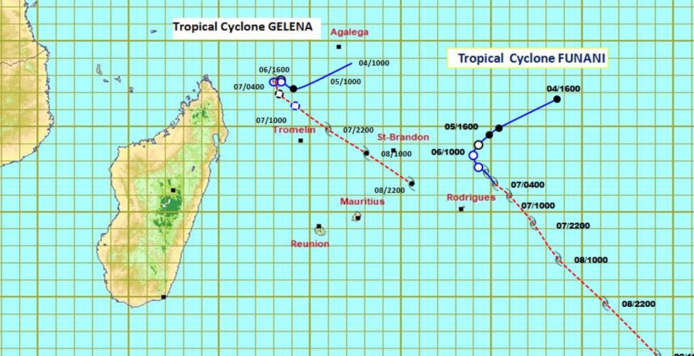 Un avertissement de cyclone de Classe 2 en vigueur à Rodrigues