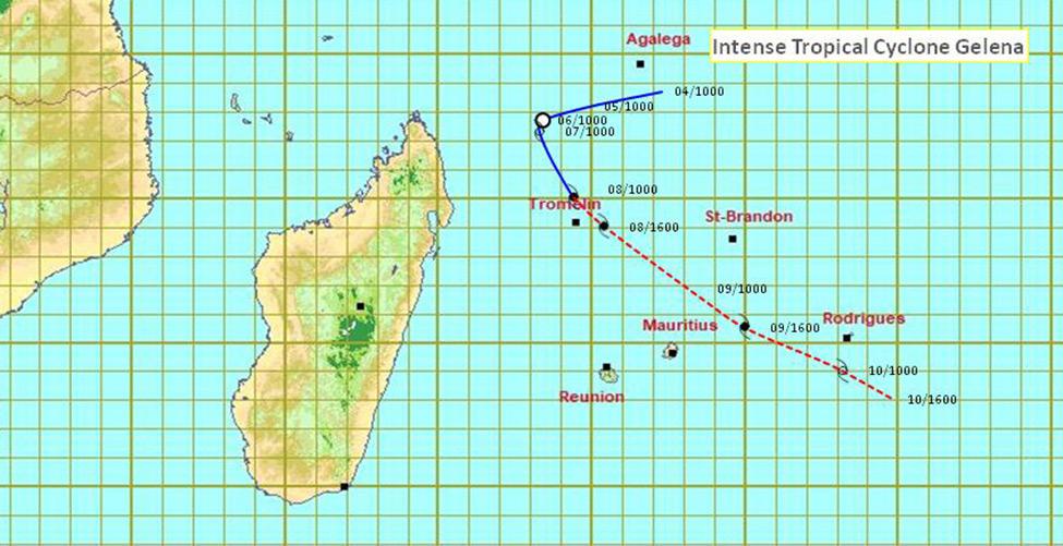 Gelena: un avertissement de cylone de Classe 1 en vigueur à Maurice et à Rodrigues