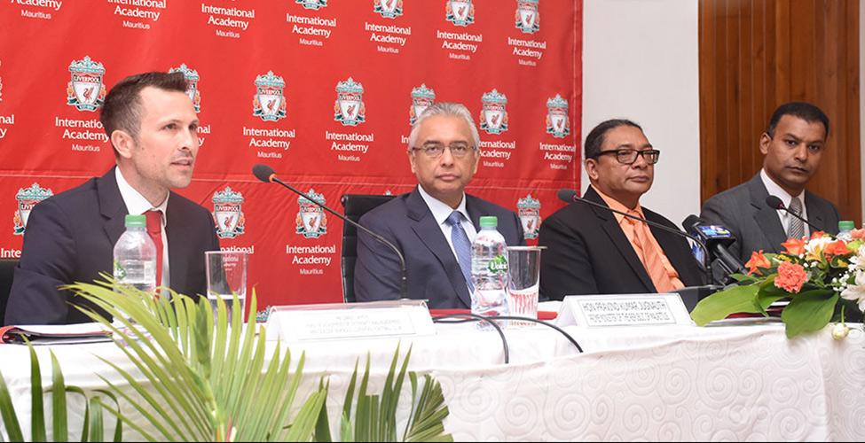 Pravind Jugnauth : « Un partenariat avec la Liverpool FC International Academy pour former des coaches et des jeunes »