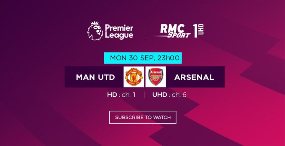 Manchester United v/s Arsenal en live sur my.t ce lundi 30 septembre à 23 h