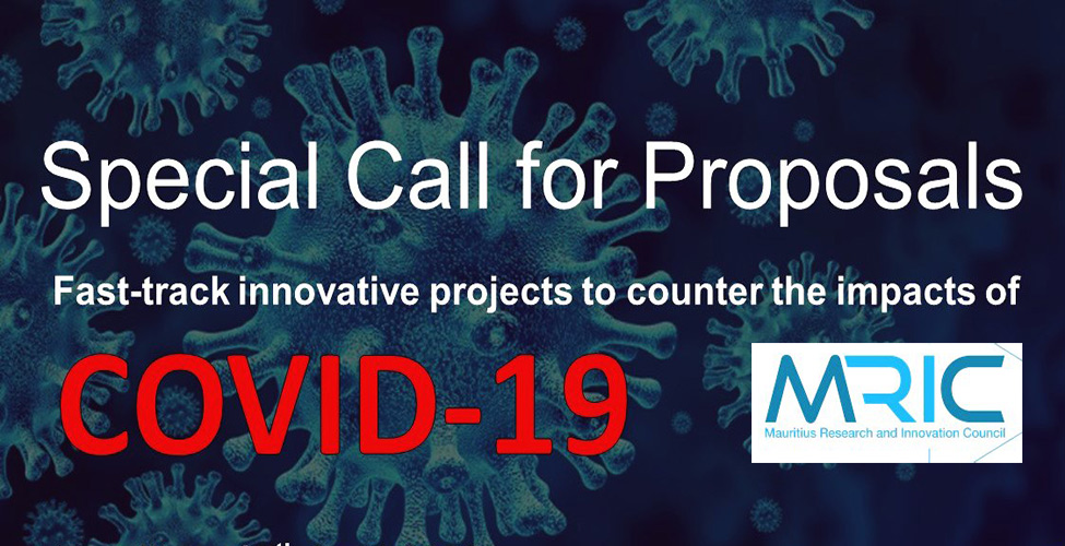 Mauritius Research and Innovation Council : special call for projects to counter the impacts of COVID-19
