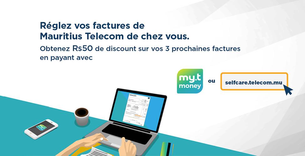 Payez vos factures de Mauritius Telecom de chez vous