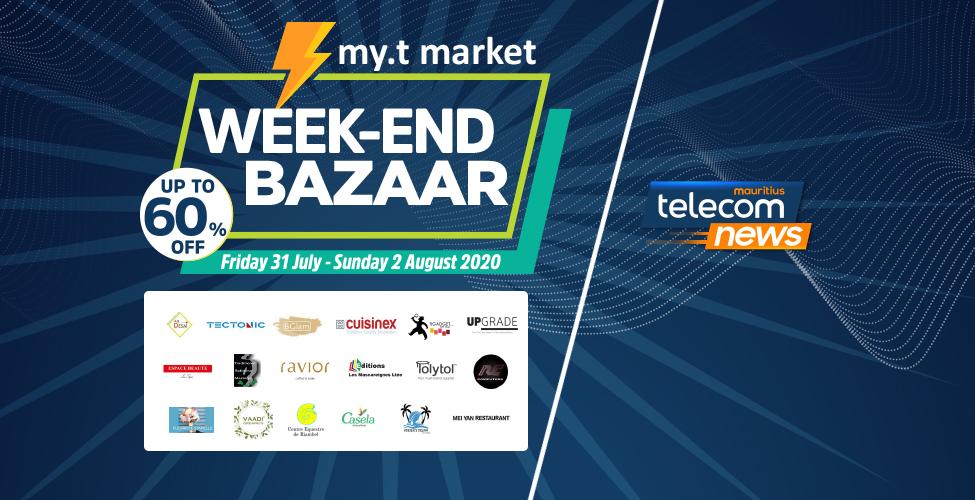 Week-end Bazaar du 31 juillet au 2 août : jusqu'à 60% de remise avec my.t money