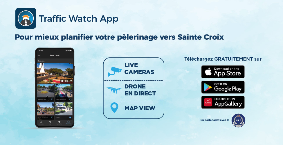 Facilitez votre pèlerinage au caveau du Père Laval avec l'application Traffic Watch