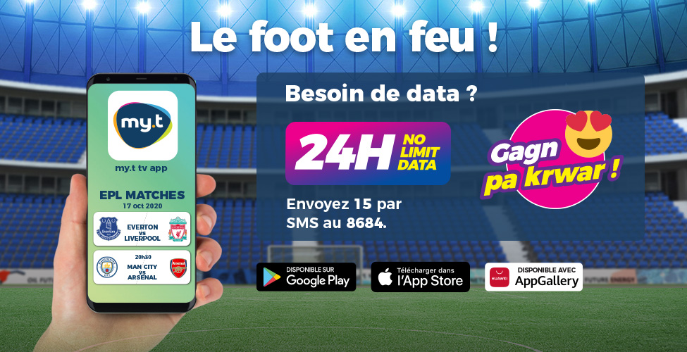 Suivez les matches de Premier League en LIVE sur votre smartphone avec my.t TV App