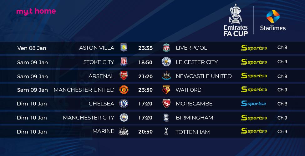 La FA Cup est en direct sur my.t